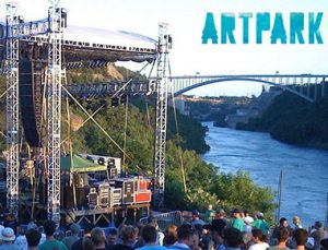 concert taking place at Artparl on Niagara River near Rainbow Bridge